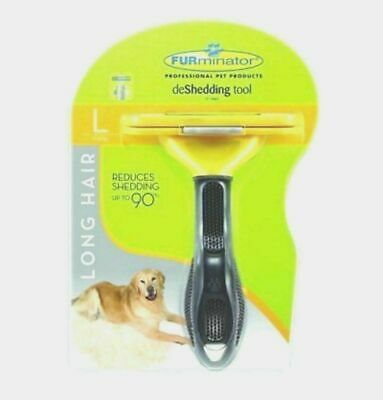 Bursh FURminator deShedding Tool for Large Dog Long Hair 51-90 lbs