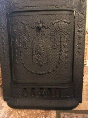 Vintage Cast Iron Fireplace Surround With Cast Iron Cover And Ventable Fender