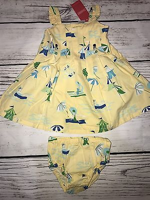 Gymboree Dress w/ Diaper Cover Infant Girls 6 to 12 Months Aloha Wahine Yellow
