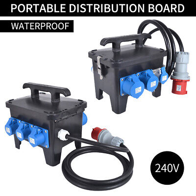 Portable Waterproof  Distribution Box Power Box for Construction Site Using