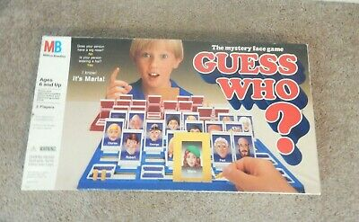 Guess Who Board Game 1987 Vintage Milton Bradley Complete Great Condition