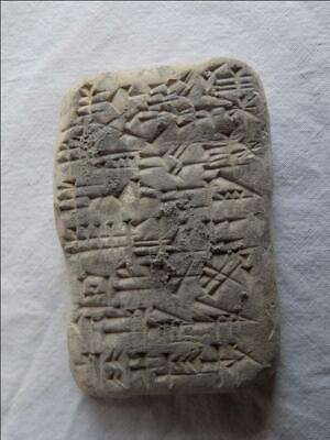 Near Eastern Terracotta Tablet With Early Form Of Writing
