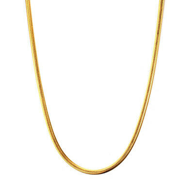 3mm Gold/Silver Snake Chain Women's 316L Stainless Steel 50cm/60cm Necklace Gift
