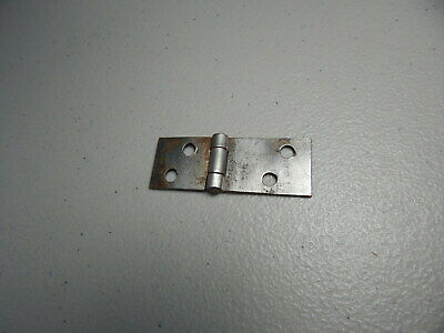 "Vintage!  1"".5  Metal Door/Box Hinge Made In USA"