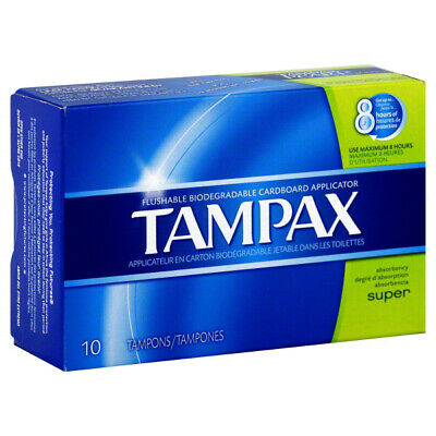 TAMPAX - Cardboard Applicator Tampons Super - 10 Tampons