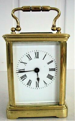 Antique Miniature French  Carriage Clock - Working Well