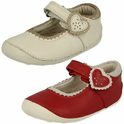 Girls Toddler Clarks Ida Heart Hook & Loop Casual Mary Jane Party Shoes Size