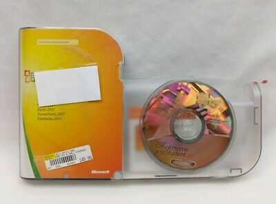 Microsoft Office Home and Student 2007 GENUINE Retail 3 User License Key Win XP