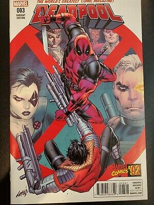 Deadpool #3 NM Rob Liefeld 92 Variant Marvel Comics 2016 X-Force Homage Cable