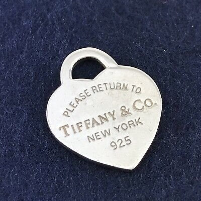 Tiffany & Co Heart Tag for Necklace Bracelet Tiffanys .925 Sterling Silver 5/8""