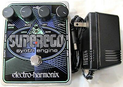 Used Electro-Harmonix EHX Superego Polyphonic Synth Engine Guitar Effect Pedal