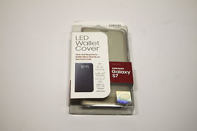 Samsung Galaxy S7 Case LED View Flip Cover  - Gold - New Open Box