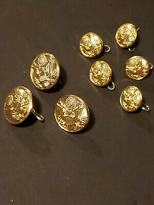 Lot Of 8 US Army Waterbury W21 Buttons