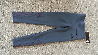 Girls adidas long tight leggins climacool Size 5 - 6 years BNWT