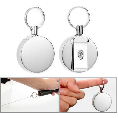 Pull Chain Outdoor Fishing Recoil Key Ring Reels Retractable Climbing Heavy Duty