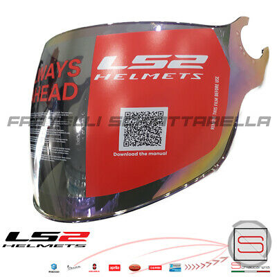 Visiera Lunga Specchio Rainbow Casco Demi Jet LS2 Airflow OF562 Sphere Lux OF558