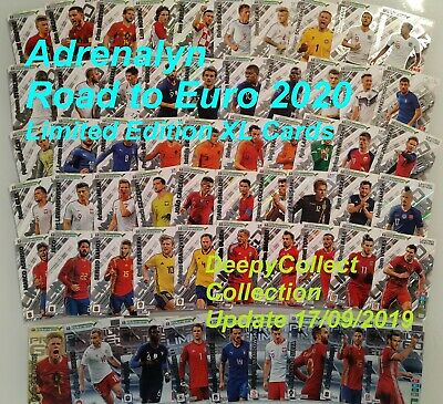 Adrenalyn Road To Euro 2020 Limited Edition Xl Premium Gold -Choose All Cards