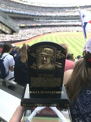 Mariano Rivera Hall Of Fame Replica Plaque New York Yankees Giveaway 8/17/19 SGA