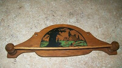 Antique Child's Wood Tie Holder Rack, Very Good Condition