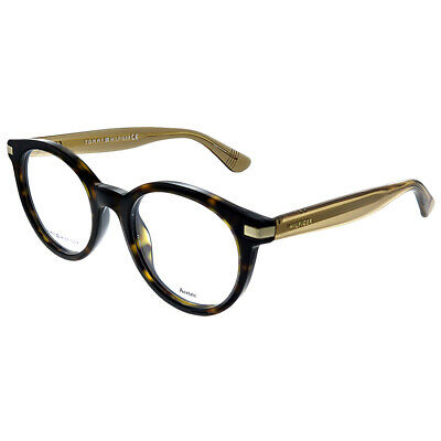 New Authentic Tommy Hilfiger TH 1473 R80 Ruthenium Metal Square Eyeglasses 50mm