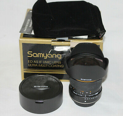 Samyang 14mm F2.8 ED AS IF UMC Lens Old four thirds fit (NOT micro 4/3)