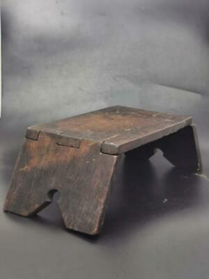 Antique Collapsing Wood milking stool c1870s