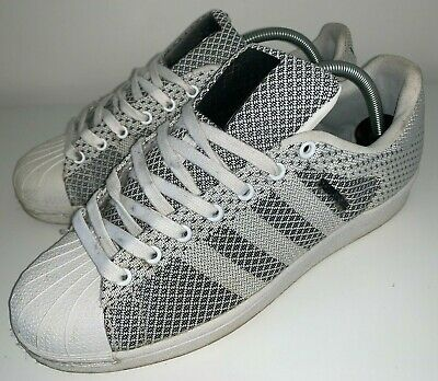 ADIDAS ORIGINALS SUPERSTAR Weave Shoes Trainers White UK 8