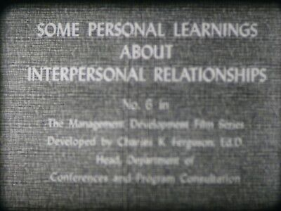 Some Personal Learning About Interpersonal Relationships 16mm short film 1966