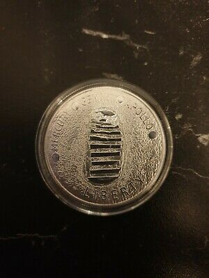 1969 Apollo 11 Moon Landing 50th Anniversary Silver plated Coin Gemini Mercury
