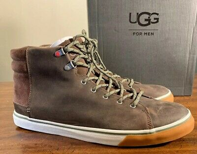 18cef19342a UGG MEN'S HOYT Leather & Suede Sneakers - Black. Size 7. - $75.00 ...