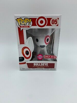 Funko Pop Flocked Bullseye Target Exclusive Ad Icons Vinyl Figure New Damaged