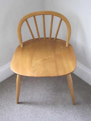 Ercol Model 414 Desk/Dressing Table Low Back Stool Chair Mid Century ##