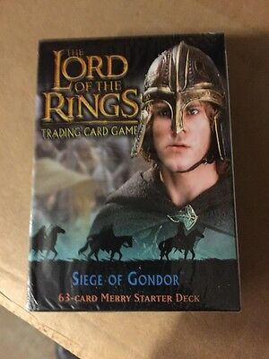 LORD Of THE Rings Siege Of Gondor Merry Starter Deck Factory Sealed Look