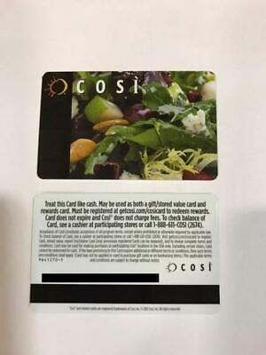 $50 Cosi Gift Card (5 $10 Gift Cards) - 50% Off