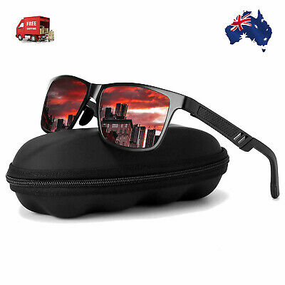 Aluminium HD Polarized Sunglasses Men Driving Fishing Mirrored Eyewear NEW