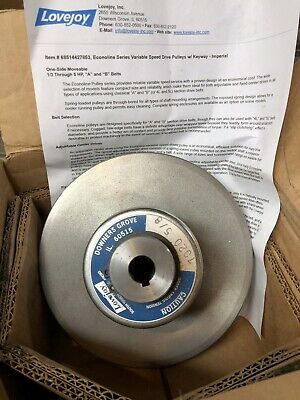 "Lovejoy Variable Speed Pulley 7020 5/8"" Reeves Style Motor Drive"