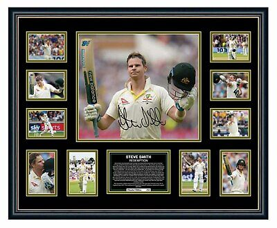 Steve Smith 2019 Ashes 'Redemption' Signed Limited Edition Framed Memorabilia