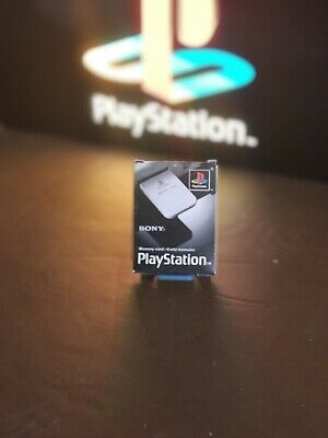 Official Sony Playstation 1 Grey Memory Card Boxed Used Complete Free P&P