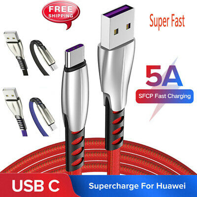 USB C Cable 5A USB Type C Cable1M Super Fast Charge for Samsung Huawei OnePlus