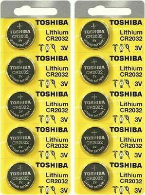 10 x New Original Toshiba CR2032 CR 2032 3V LITHIUM BATTERY BR2032 DL2032-EX2028