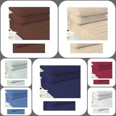Plain Dyed Polycotton Flat Sheets Soft Poly Cotton Fitted Bed Sheets 18 Colours