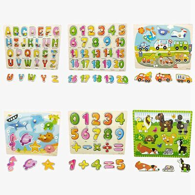Wooden Baby Child Early Education Puzzle Multi-Pattern Toy Puzzle Exercise Hot