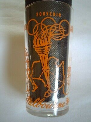 Olympic Games 1956 Melbourne Vintage Event Pageant Honey Glass Boxing Cycling