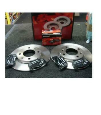 PEUGEOT 206 CC 2001-2010 REAR SOLID 247mm BRAKE DISCS AND PADS