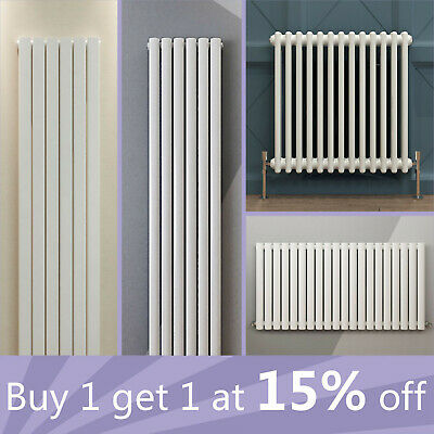 Vertical Horizontal Flat Panel Oval Column Traditional 2 3 Column Radiator White