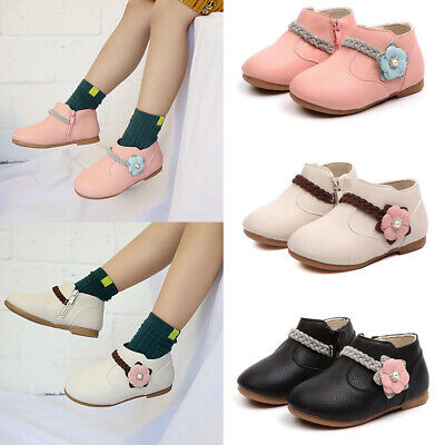 Clearance 40% Off Toddler Kids Girls Flats Winter Shoes Ankle Boots Sneaker Size
