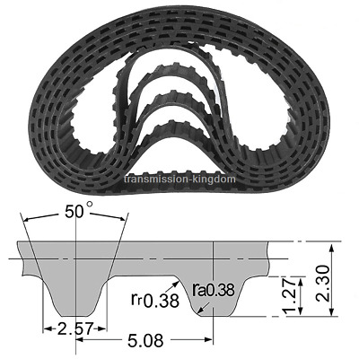 XL Rubber Pulley Timing Belt Close Loop Synchronous Drive Belt 10mm Width