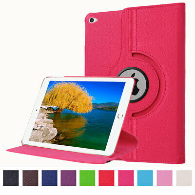 """For Apple iPad Pro 9.7"""" Slim Rotating 360 Leather PU Smart Stand Thin Case Cover"""