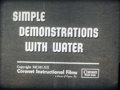 Simple Demonstrations With Water 16mm short film 1962