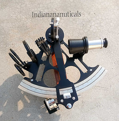 Navy Working Astrolabe Sextant Maritime Black Finish Sextant Gift.